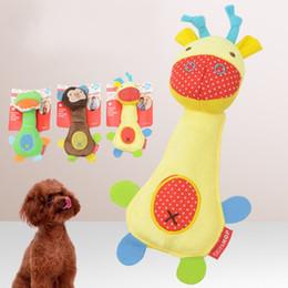 Fournitures pour animaux de compagnie Chien de jouet Puzzle Bauble Strip Animal The Built In Bell Pets Jouet Cartoon Peluche Sound Molar Dent 4 8sh H R ? partir de fabricateur