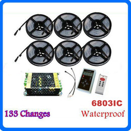 Wholesale Dream Rgb Led Strip Waterproof - Waterproof IP67 5050 RGB 6803IC Dream Color Magic RGB LED Strips Lights 20A 240W Power With 33 Changing RF Remote