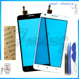 Wholesale Touchscreen Digitizer Parts - Wholesale- 5.0 inch Phone Sensor Touchscreen For Lenovo S580 S 580 Digitizer Touch Screen Front Glass Touch Panel Parts Free +tape+tools