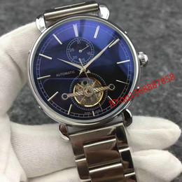 Часы наручные онлайн-Лучшие горячие продажи автоматические Мужские швейцарские часы из нержавеющей стали с турбийоном Черный циферблат Механический Спорт мужские часы vc Relogio Masculino