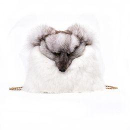 Wholesale plush rabbit purse - Designer Handbags Women Autumn Winter Female Bags Rabbit Fashion Shoulder Bag Crossbody Bags Casual Plush Fox Decoration Handbag Purses