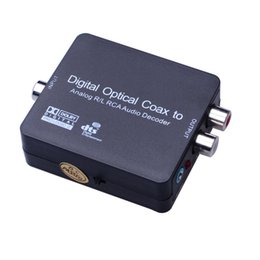 Wholesale Optical Decoder - Digital Output Audio Connector Optical Coax to Analog RCA R L Audio Decoder Converter with USB Power Cable
