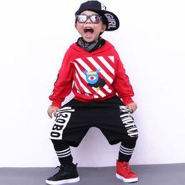 Wholesale Kids Dance Outfits - 2017 Boys sport suit autumn girls clothing set school teenager boy dance wear kids tracksuit casual hip-hop fashion child set outfit