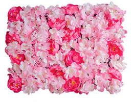2019 cryptage gratuit mur de fleurs soie rose entrelacs mur cryptage floral fond fleurs artificielles créative étape de mariage les accessoires libre shopping WT048 cryptage gratuit pas cher