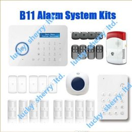 Wholesale Chuango Security Gsm Touch - Chuango B11 Wireless Touch Keypad GSM Phone SMS SIM CARD   PSTN Home Security Burglar Alarm System Delivery Time 5-7days