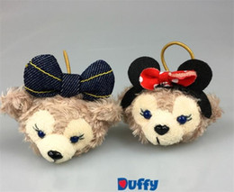 Wholesale Hair Elastics Sale - Hot sale Duffy bear shelliemay cute hair hoop hair accessories Rubber band Stuffed toys with elastics girl's headwear lovely