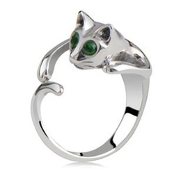Wholesale Red Onyx Ring Gold - The new cat lovers ring opening size adjustable alloy jewelry ring