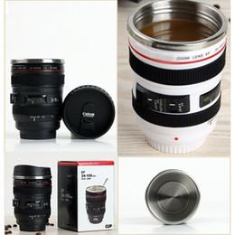 Wholesale Novelty Mug Gift - 400ml Camera Lens Coffee Mug Stainless Steel Liner Tea Cup 5 Generation Tumbler Travel Mug SLR Lens Bottle Novelty Gifts HH-C23