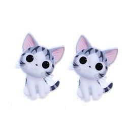 Wholesale Cute Cabochons - 30Pcs 35x27mm Cute Chi's Sweet Home Resin Planar Cartoon Anime Cat Cabochons DIY Kids Children Jewelry Craft Embellishment