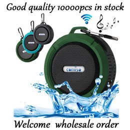 Wholesale Huawei Waterproof Phones - Portable Waterproof Outdoor Wireless Car Bluetooth Speaker C6 bluetooth altavoz for iPhone xiaomi MP3 MP4 Huawei Samsung LG