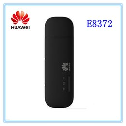 Wholesale Huawei Wireless Usb Modem - Free shipping Wholesale- Unlocked huawei E8372 150Mbps Wireless Modem 4G Wifi 4G LTE Wifi Dongle LTE Modem
