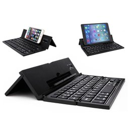 Wholesale Tablets Portable Keyboards - Universal Portable Foldable Bluetooth Keyboard Multiple Mini Keyboard with Stand For Smartphone iPhone 7 iPhone6 ,Samsung S7 Tablet