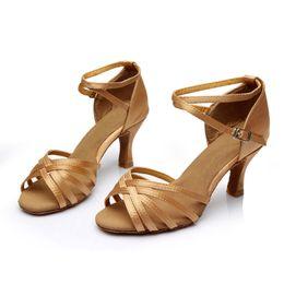 Wholesale Sexy Dance Latin Shoe - 2017 Summer New stylish Sexy salsa jazz women dance shoes Satin Latin Ballroom Dance Shoes for girls