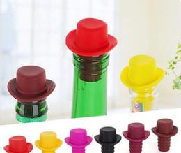 Wholesale Bar Pour Spouts - 100PCS Silicone Wine Bottle Stoppers Keep Vacuum Sealed Kitchen Bar Tools Spout Liquor Flow Stopper Pour Cap Bottle Cover