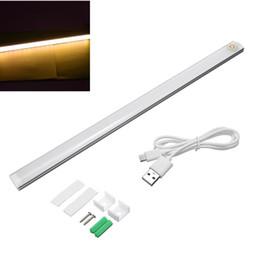 En gros-Moderne 6 W 21 LED USB Alimenté Capteur Tactile Dimmable LED Bar Lampe Pour Chambre Chevet Armoire Armoire Lumière Pur Blanc Chaud DC 5 V ? partir de fabricateur