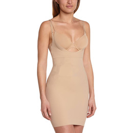 Unterbrust shapewear slips online-2017 neue einteilige komfort tummy control slip underwear bodyshaper unterbrust abnehmen shapewear