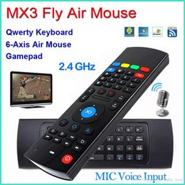Wholesale Touch Learning - X8 Air Fly Mouse MX3 2.4GHz Wireless Keyboard Remote Control Somatosensory IR Learning 6 Axis With Mic VS MXQ X96