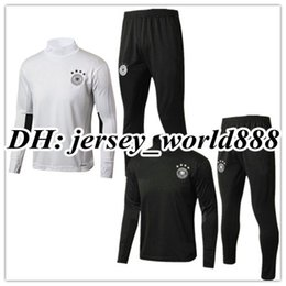 Wholesale Germany Suits - TOP QUALITY 17 18 Germany jacket Training suit kits soccer Jersey HUMMELS OZIL REUS MULLER GOTZE KROOS SCHWEINSTEIGER Neuer football shirt