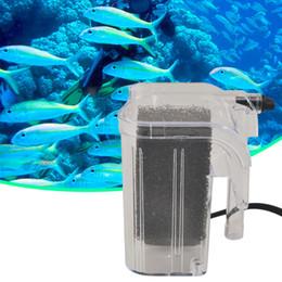 2019 aquarium externe Filtre externe de réservoir de poissons SY-G02 220-240V Fish Turtle Tank Aquarium externe Pompe à Oxygène Filtre Cascade Mini Filtre de Puissance d'aquarium US Plug