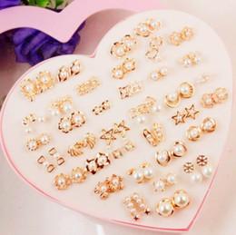 melhores brincos meninas Desconto Venda quente 36 projetos pérola ear stud meninas brincos moda jóias melhor presente para as mulheres embalagem caixa de retial