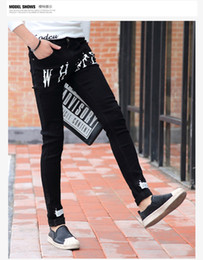 Wholesale Cheap Pants China - Wholesale- new spring summer men straight slim Leisure Youth fashion casual jeans factory china Cheap wholesale