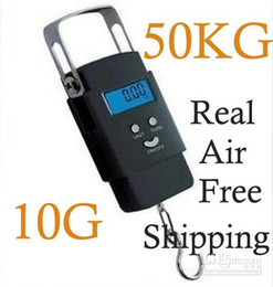 Wholesale Digital Weight Kg - Hotsale 50 KG x 10G 50kg-10g Digital Hanging Lage Fishing Weight Scale retail freeshipping