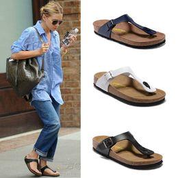 Wholesale Silver Sandals For Women - Wholesale-Summer slippers for men and women, 2016 new cork bottom flip-flops, sandals with a couple flip flops men