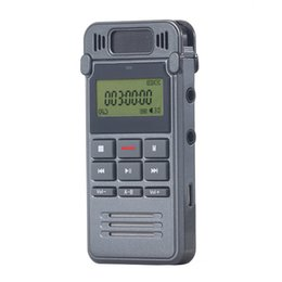 Wholesale Telephone Recording - Wholesale-8GB Noise Reduction High-definition Digital Audio Voice Recorder Dictaphone Telephone Recording with LCD Display MP3 Player