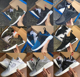 Wholesale Cheap Adult Shoes - 2017 Hot Sale Women Men NMD XR1 Glitch Black White Blue Camo Olive Adult And Kids Children Running Shoes Sports Sneakers Cheap Online Sale