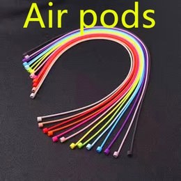 Wholesale Phone Wire Connectors - AirPods Strap For iPhone 7 7Plus Air Pods Wire Rope Connector Headphones Anti Lost Soft String Rope For Airpod Phone Accessories