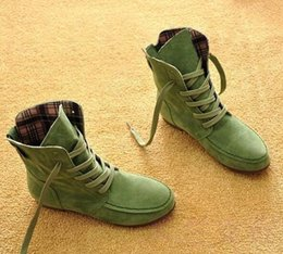 Invierno militar botas de cuero hombres online-De gran tamaño de 10 a 13 de cuero de Martin botas de nieve y botas para hombres militares niñas zapatos casuales de invierno Femme Bota 2016
