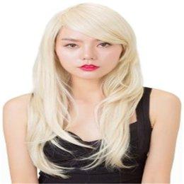 Pelucas llenas de encargo del pelo humano del cordón online-Personalizado Total Blonde Hair Weaving Virgin Virgin 100% Peluca llena de encaje Seda superior 5.5 * 5.5 Peluca y el cabello del bebé es cabello humano