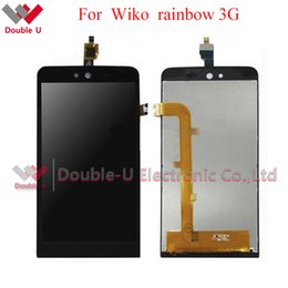 Wholesale 3g Lcd Screen Glass - 2pcs lot FULL LCD For Wiko Rainbow Jam 3G LCD Display Touch Screen Glass Digitizer Assembly Replacement and Free Shipping