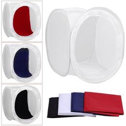 Deutschland Einschließlich Drei Fotostudio Schießen-Zelt-Licht Softbox Cube Box Kit w / 4 Farben-Hintergründen Größen Versorgung