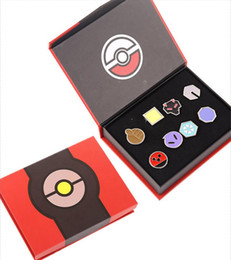 Wholesale Stars Wars Toys - Children Poke Metal Badge Brooch toys 6 Style Zinic Alloy Brooch poke Action Figures Anime 8pcs set with box toy