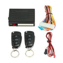 Wholesale Security Door Lock Alarm - Remote start car security alarm 2pcs flip key alarm remote auto central lock or unlock car door,anti-hijacking protection