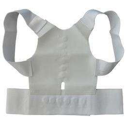 Wholesale Chest Brace Support - Wholesale- 1pcs Best Deal Men Women Magnetic Back Support Posture Corrector Back Belt Pain Belt Brace Shoulder Chest Belt Size S-2XL
