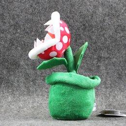 "Wholesale Mario Plant Plush - New 3pcs Lot 8"" 20cm Piranha Plant Super Mario Bros Plush Dolls Stuffed Animals Toys Gift"