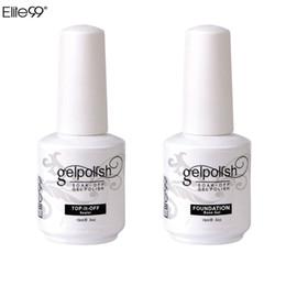 Al por mayor-Elite99 15 ml Nail Art Decoraciones Gel Fundación de esmalte de uñas para la belleza del arte LED Se necesita la lámpara superior y la capa base UV Gel Nail desde fabricantes