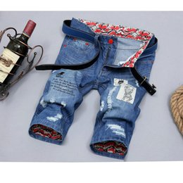 Wholesale Youth Coats Sale - Wholesale- china Cheap wholesale 2017 summer new Hot sale explosion models youth trend men denim fashion casual cool jeans