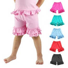 Wholesale Chinese Clothes For Boys - kids baby children clothes clothing 100% cotton 2017 summer girls boys Ruffled shorts pants for baby girl 1-8T wholesale free shipping