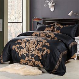 Al por mayor- rojo / negro / blanco ropa de cama de europa estilo king size edredón edredon ropa de cama de china kit de cama desde fabricantes
