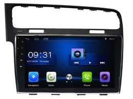 Wholesale Golf Navi - 4-Core Android 6.0 10.1inch Car Dvd Gps Navi Audio for Volkswagen VW for Golf 7 Golf7 with steering wheel control wifi 3G DVR