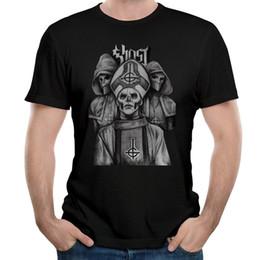 2019 mangas del cartel Camisas de manga Moda MAGGO Ghost Bc Sin Maquillaje Sketch Poster Camisetas Mens Hot New 2017 Summer Fashion T Shirts mangas del cartel baratos