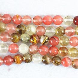 Wholesale 8mm Jasper Beads - Beautiful watermelon tourmaline multicolor jasper 4mm 6mm 8mm 10mm 12mm 14mm round jade diy jewelry loose beads 15 inch