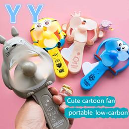 Wholesale Cartoon Plastic Fan - Cute cartoon fan mini fan student portable manual environment-friendly cool fan creative handheld toy Free shipping
