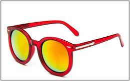 Wholesale Red Transparent Film - Meters arrow transparent color film reflective sunglasses personalized glasses mirror women's big box sunglasses