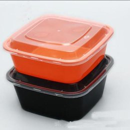Wholesale Storage Meal - 750ML Microwave Food Storage Disposable Meal Prep Containers+ Lids Bento Box Lunch Box Tray with Cover Meal Prep Portion Control