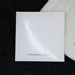 Wholesale Wholesale Sterling Silver Cleaning Cloth - 925 Sterling Silver Polishing Cloth European Style for Pandora Charm Bead Dangle Pendant Jewelry Cleaners & Polish