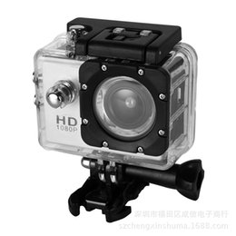 Wholesale Diving Digital Camera - 1080P Action Camera Full HD Sport Camera Shockproof Mini 2 Inch Digital Camera for Helmet Waterproof Sport DV Bicycle Skate Record